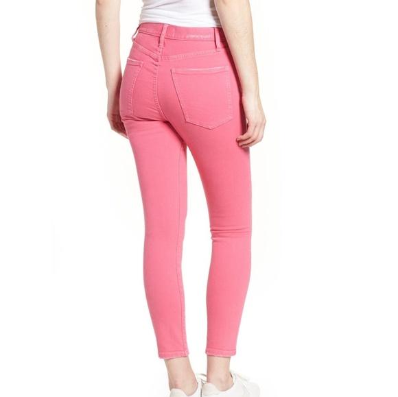 Current/Elliott Denim - Current/Elliott pink ultra high waist pink jeans